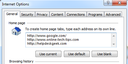 multiple-home-page-ie