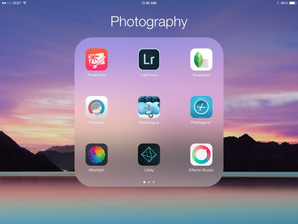 photo-editing-apps-ipad-home-screen